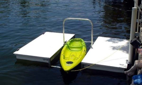 Accudock-H-Dock with overhead grab bar