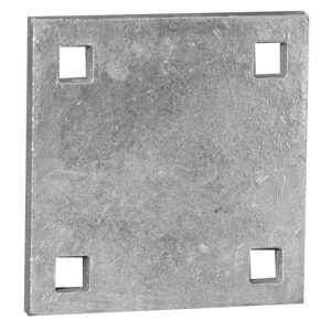 Dock hardware - backup plate for floating docks