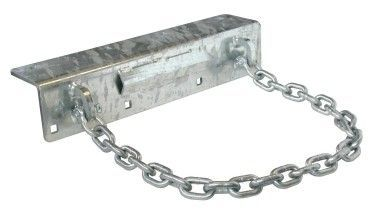 floating dock hardware - chain pile holder