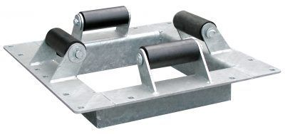 Dock hardware - internal piling holder with rollers