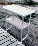 2 leg fish cleaning table - dock accessories