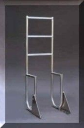 Aluminum boat dock ladder - swing style