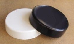 "Piling Caps: 17"" Black or white Rount Flat Top Piling Cap"