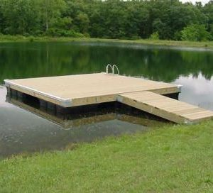 Wood Floating Dock - U Shape