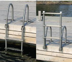 Dock Ladders: SS Flip Up Dock Ladder