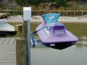 Jet Ski Lift - One Post Boat Lift