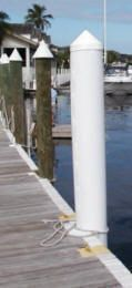 Piling Wrap to protect your dock pilings - black or white available