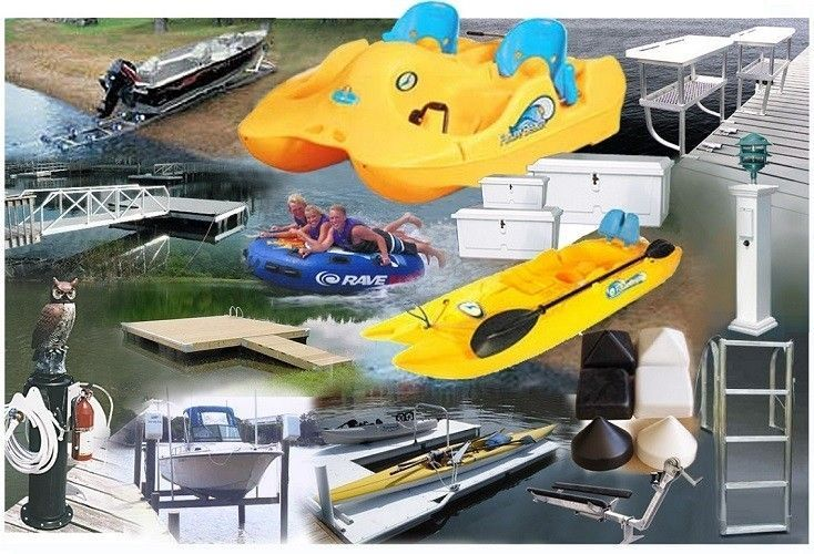 Dock Accessories: Floating Docks, Dock Ramps and Gangways, Dock Hardware, Boat Lifts, Jet Ski Lifts & Ramps, Piling Caps, Dock Ladders,, Dock Lights, Dock Boxes, and more.