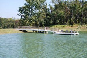 Floating Docks - Aluminum Floating dock with ramp access