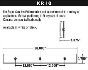 Dock Bumper - KR10 Diagram and Specifications