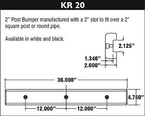 Dock Bumper - KR20 Diagram and Specifications