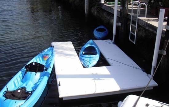 Accudock Kayak Slip floating dock