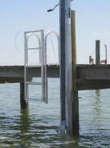 Dock Ladders for Boat Docks, Piers and Floating Docks- Vertical Lift Ladder - Up