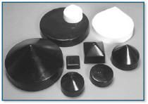 Piling Caps on Sale: Round, Square, Conetop and Flat, Black or White.