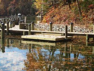 Floating dock built by customer using Dock Accents Floating Dock Kit